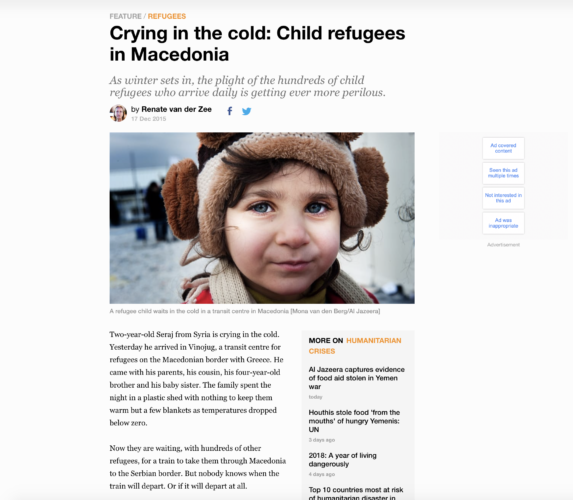Al Jazeera - refugees Macedonia 1