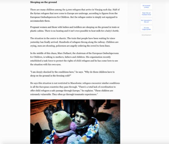 Al Jazeera - refugees Macedonia 3