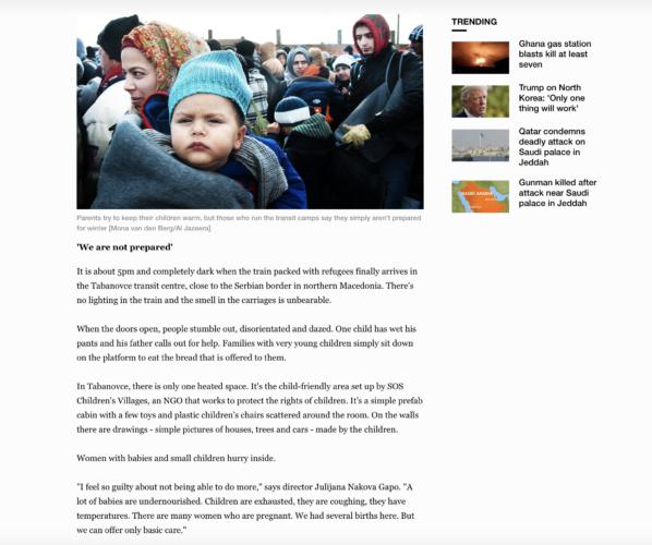 Al Jazeera - refugees Macedonia 6