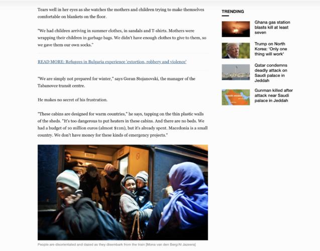 Al Jazeera - refugees Macedonia 7