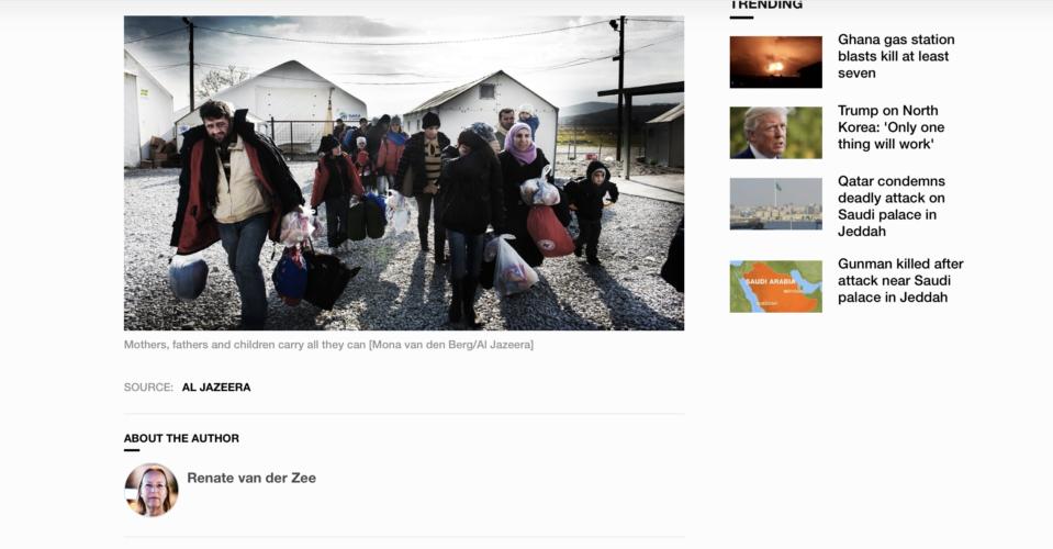 Al Jazeera - refugees Macedonia 9