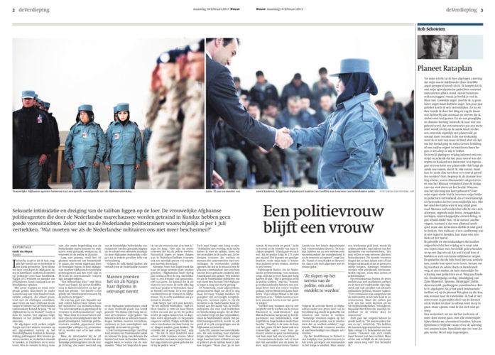 publicatie Trouw reportage_kunduz